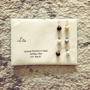 Colorful genuine freshwater pearl charm pendants